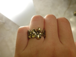 Ladies Simple Flowers Antique Cool Fashion Ring