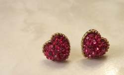 Small And Exquisite Sweet Heart Stud Earrings