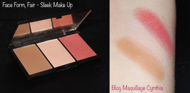 Face Form Fair Sleek MakeUp swatches