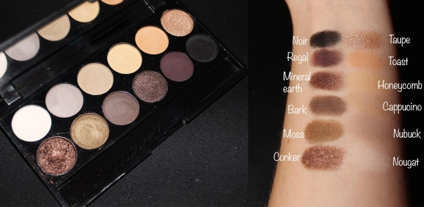 Palette au naturel Sleek MakeUp swatches