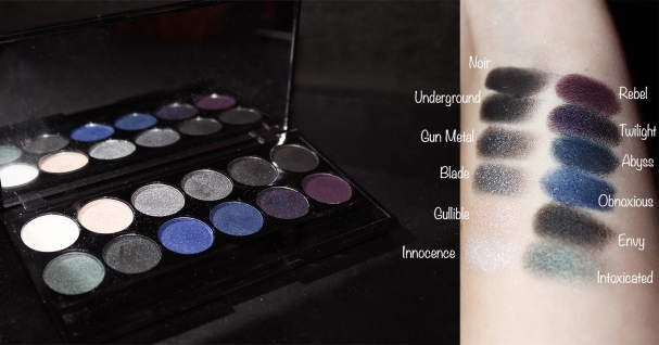 Palette bad girl Sleek MakeUp swatches