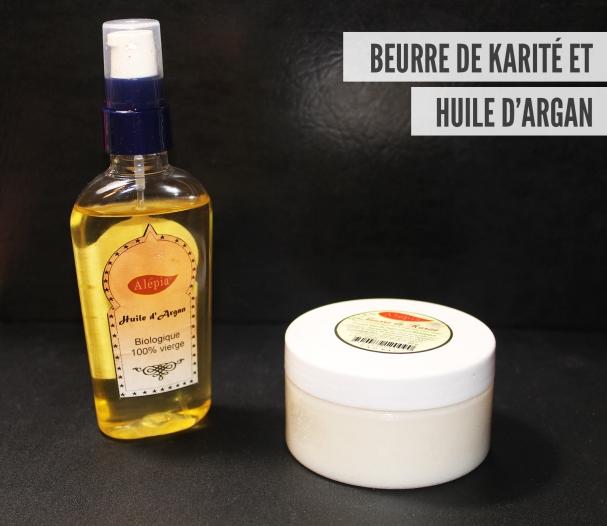 Beurre de karité et huile d'argan