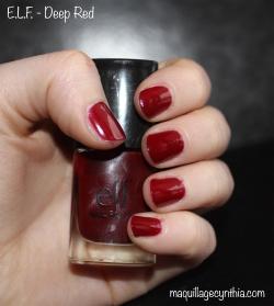 Vernis E.L.F - Dark red