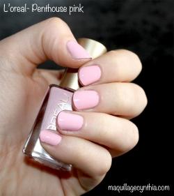 Vernis L'Oréal Penthouse pink 104