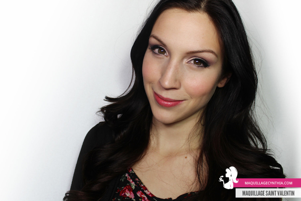 Maquillage pour la Saint Valentin Cynthia Dulude
