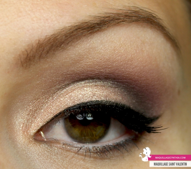 Maquillage pour la Saint Valentin oeil Cynthia Dulude