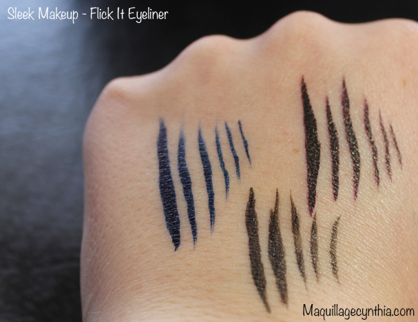 Flick It Eyeliner Sleek Makeup Swatches