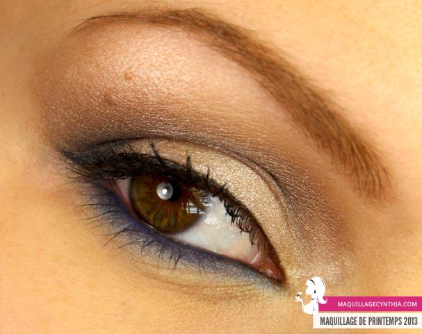 Maquillage de Printemps détail oeil Cynthia Dulude
