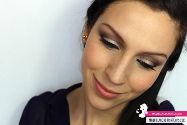Maquillage de Printemps yeux Cynthia Dulude
