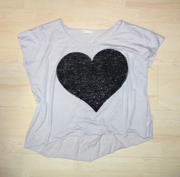 T-shirt large coeur Forever 21