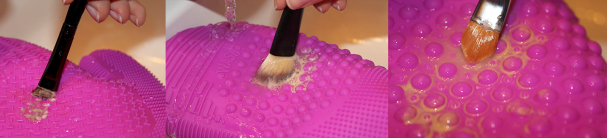 Close-up textures Brush Cleaning Glove de Sigma