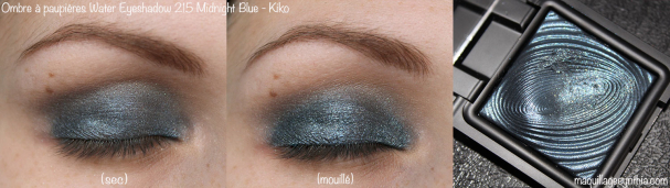 Ombre à paupière water eyeshadow 215 midnight blue Kiko