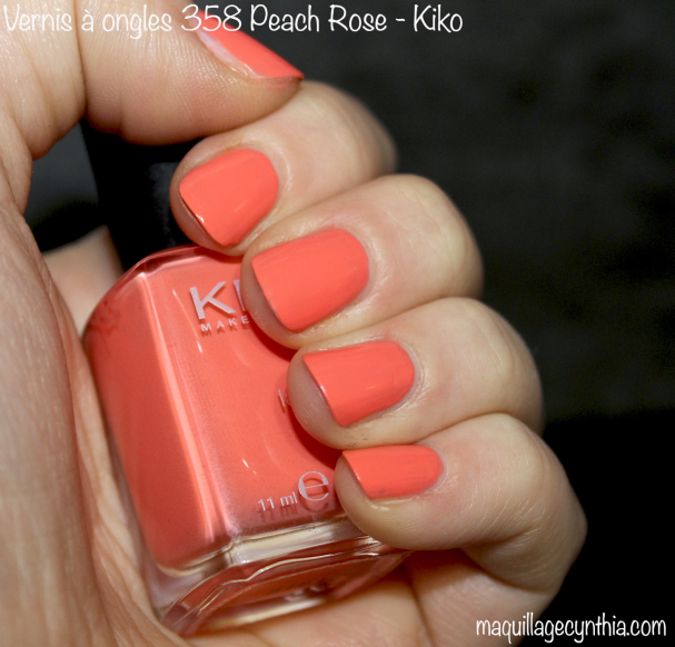 Vernis à ongles 358 peach rose Kiko