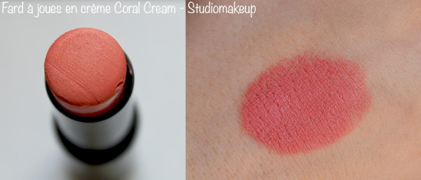 Fard à joues Coral Cream swatch StudioMakeup