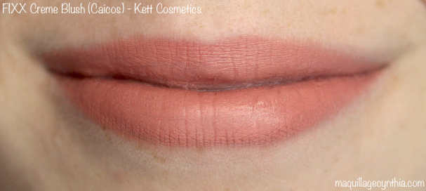 Swatch lèvres blush Kett Cosmetics