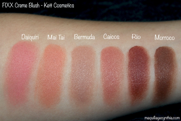 Swatch blush Kett Cosmetics