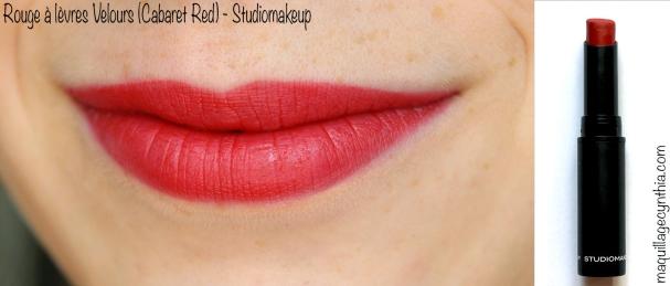 Rouge à lèvres Velours Cabaret Red StudioMakeup