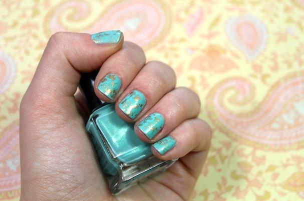 Nail Art d'été turquoise
