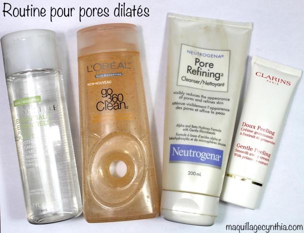 Routine soins pores dilatés