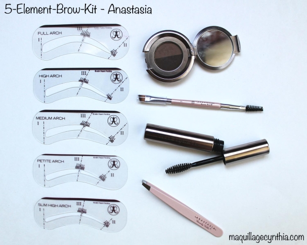 5 element brow kit dark brown anastasia