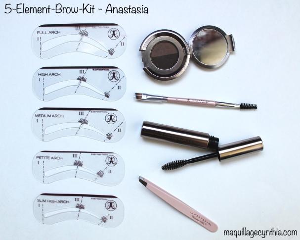 5 element brow kit dark brown anastasia