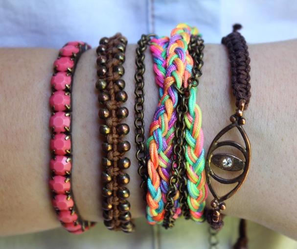 Look du jour Funky Soul bracelets été Arm Candy