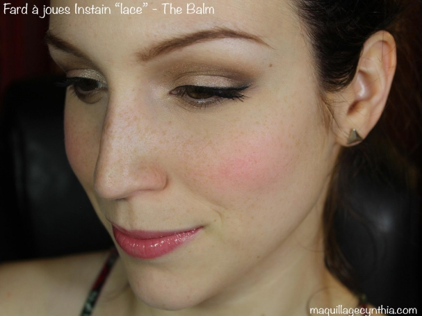 Fard à joues Instain Lace The Balm swatch