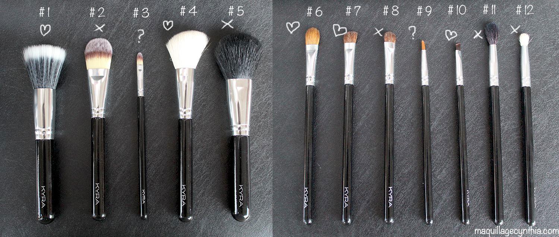 J ai test des kits de pinceaux maquillage abordables - Pinceau de maquillage pas cher ...
