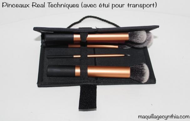 Pinceaux Real Technique avec pochette transport
