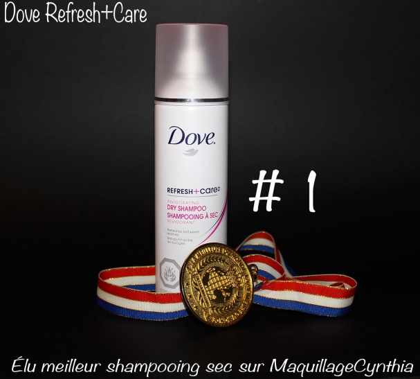 Gagnant : shampooing sec Refresh+Care de Dove