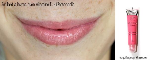 Swatche lèvres rose pâle