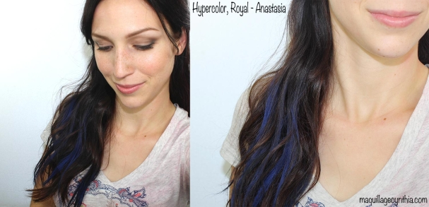 Poudre Hypercolor Anastasia bleue swatche