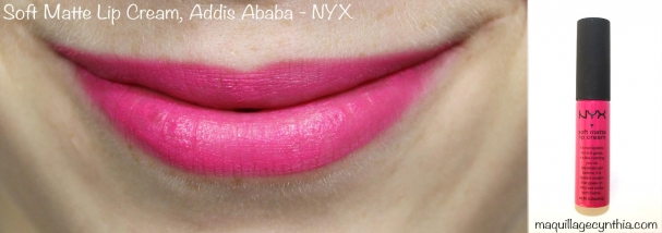 Soft Matte Lip Cream Addis Ababa NYX swatche