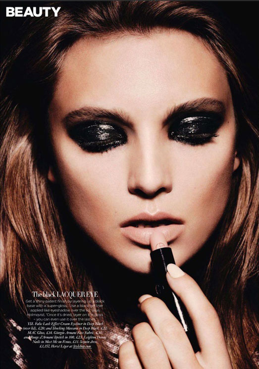Smokey eye glossy fashion