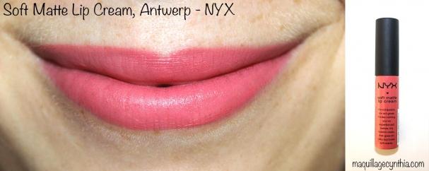 Soft Matte Lip Cream Anterwp NYX swatche