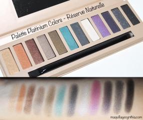 Palette platinium colors Réserve Naturelle