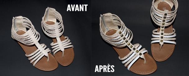 Sandales Avant / Après