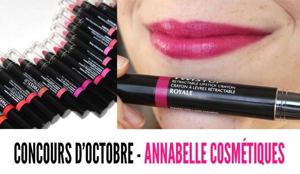 Concours du mois d'octobre avec Annabelle Cosmétiques