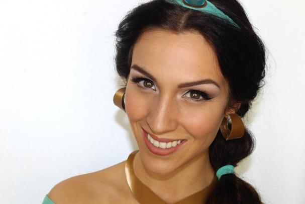 Maquillage d'Halloween Princesse Jasmine (Aladdin)
