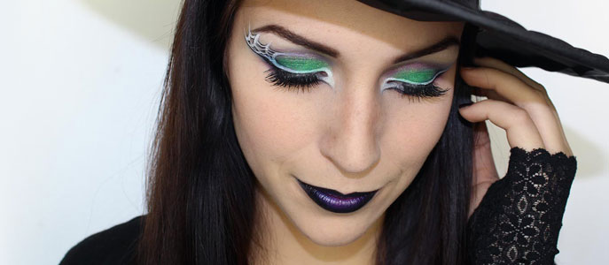 Maquillage d 39 halloween sorci re glam maquillage cynthia - Coiffure halloween facile ...