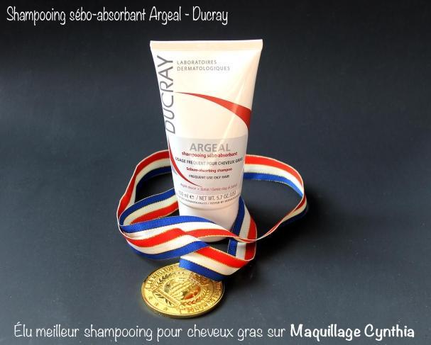 Shampooing sébo-absorbant Argeal de Ducray