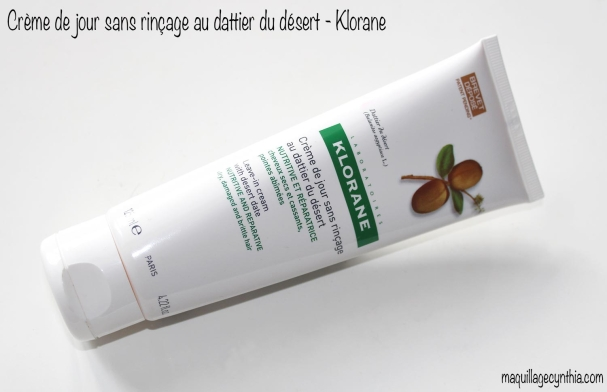 Crème de Jour Sans Rinçage au Dattier du Désert de Klorane