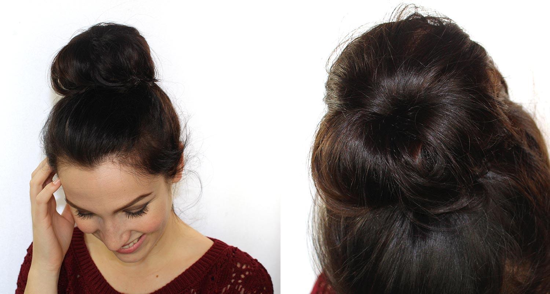 "Chignons faciles avec un ""hair donut""   Maquillage Cynthia"