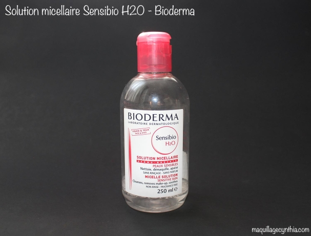 Solution micellaire peaux sensibles Sensibio H2O de Bioderma