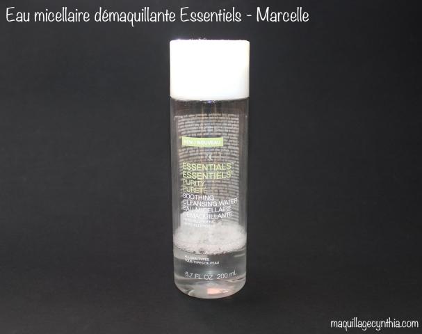 Eau micellaire démaquillante Esssentiels de Marcelle