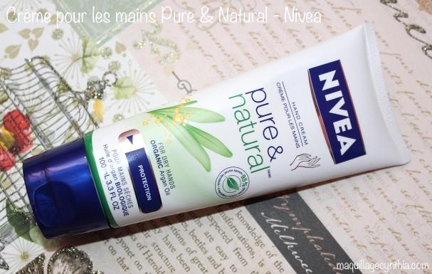 Pure & Natural à l'huile d'argan de Nivea