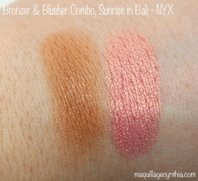 Bronzer and blusher combo NYX swatch