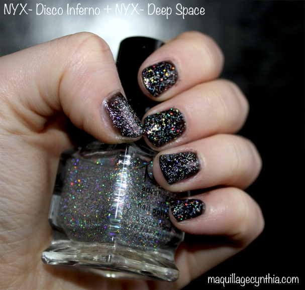 Vernis à ongles disco inferno NYX swatch
