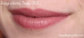 Rouge à lèvres NYX swatch