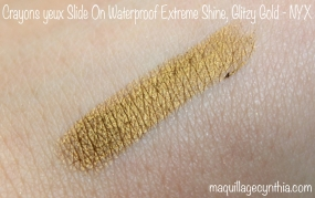 Extreme shine eyeliner NYX swatch